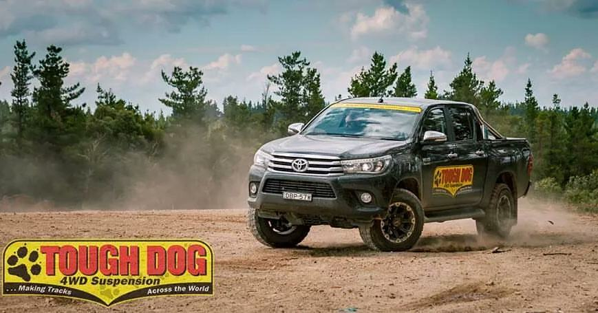 Hilux with Lift Kit by Tough Dog